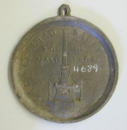 Prueba de reverso de la medalla conmemorativa de Daoiz y Velarde