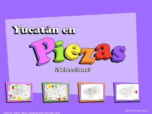 Municipios de Yucatán. Puzzle. INEGI de México
