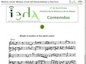 Música vocal: Música vocal del Renacimiento y Barroco