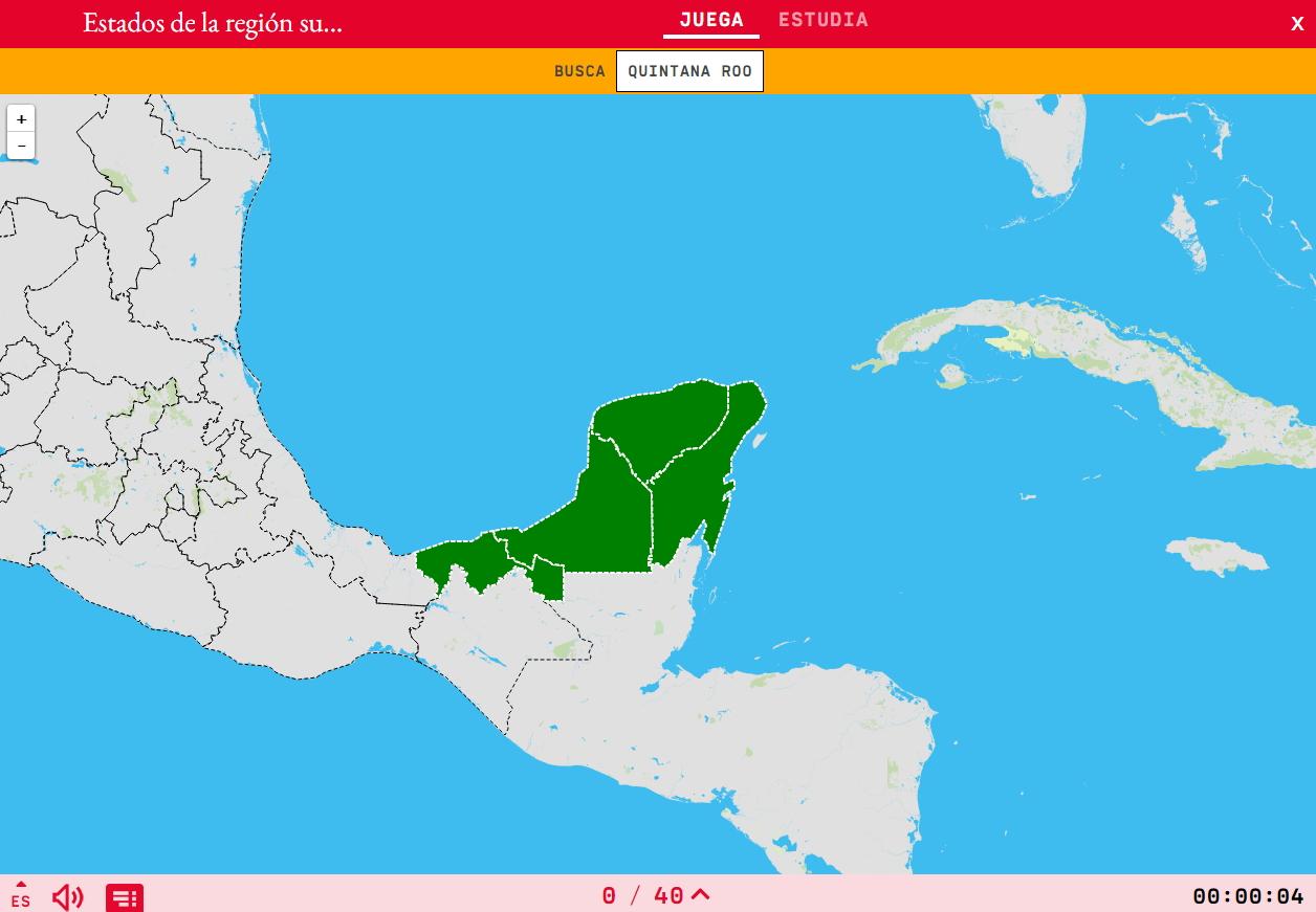 Mexikoko hego-ekialdea eskualdearen estatuak