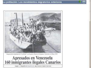 La población: Los movimientos migratorios exteriores