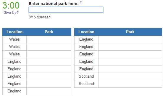 United Kingdom national parks (JetPunk)