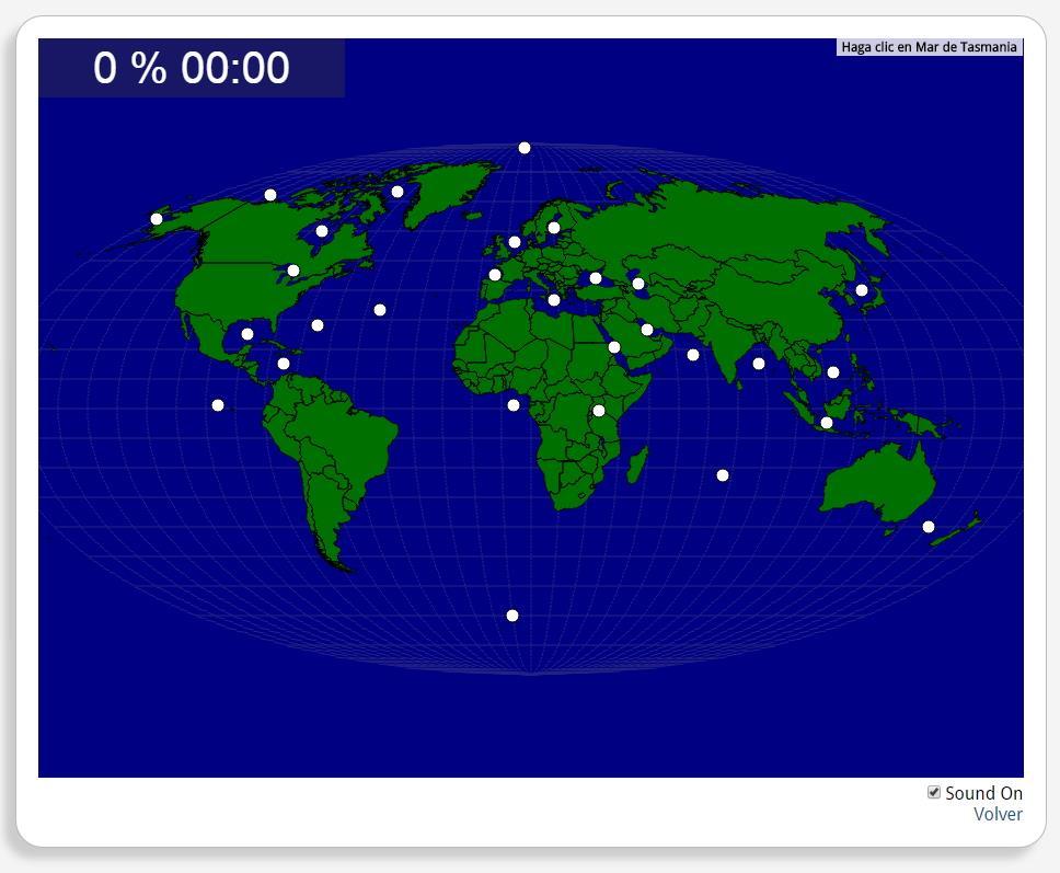 Welt: Ozeane, Meere und Seen. Seterra
