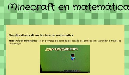 Minecraft en matemática