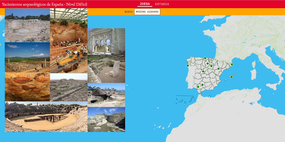 Xacementos arqueolóxicos de España - Nivel difícil