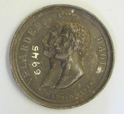 Prueba de anverso de la medalla conmemorativa del 2 de Mayo