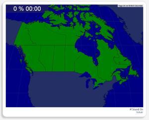 Canadá: Províncias e territórios. Seterra