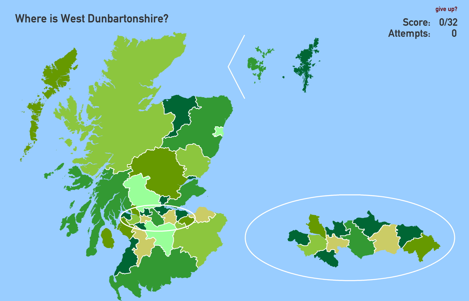 Council areas of Scotland. Toporopa