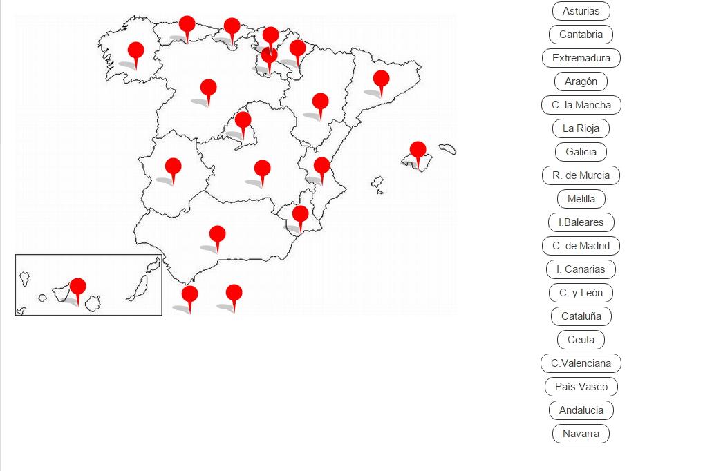 Comunidades autónomas de España (Cerebriti)
