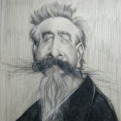 Caricatura del escritor Enrique Gaspar y Rimbau