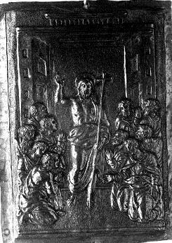 Cristo resucitado apareciendose a los Apóstoles