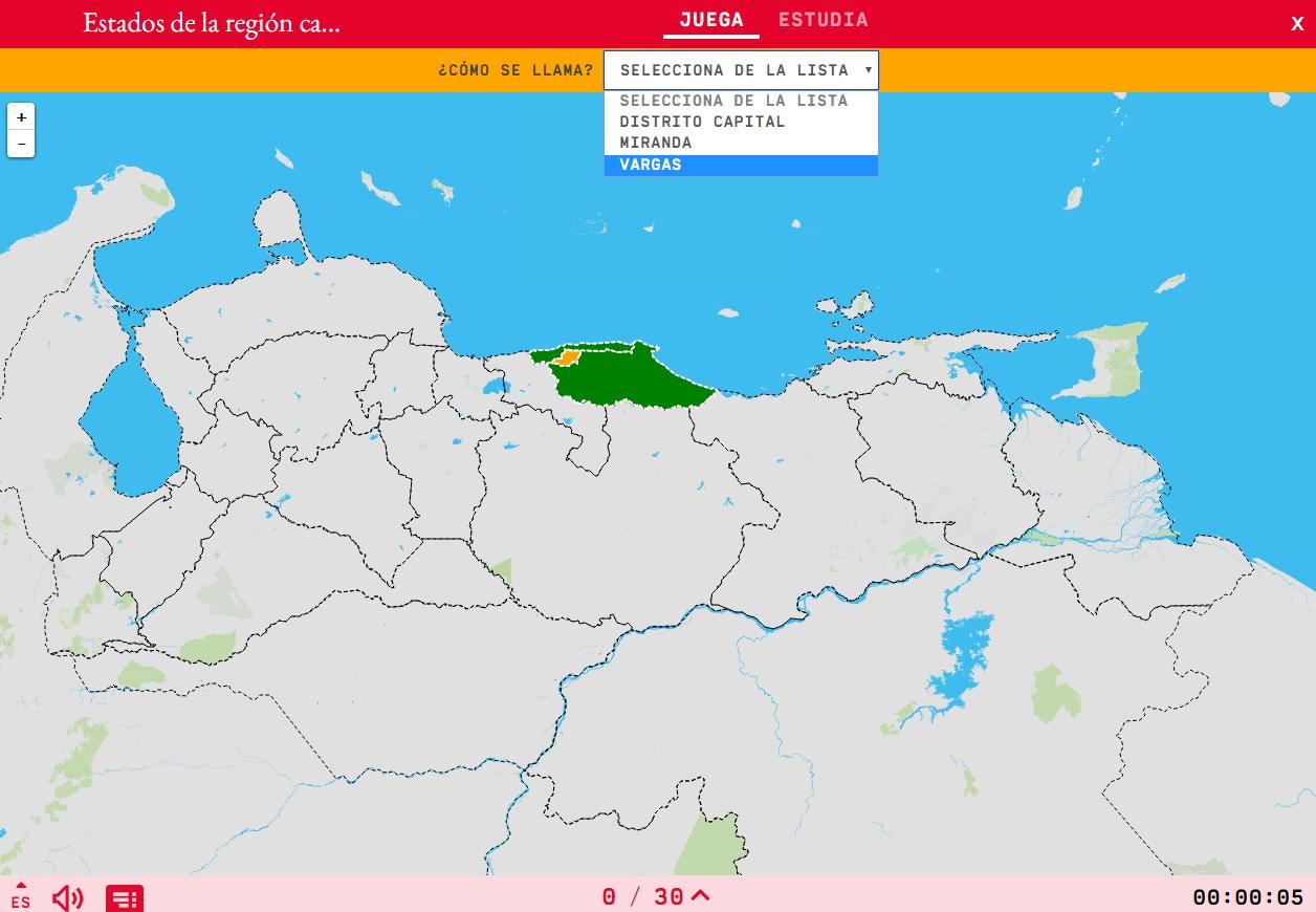 Estados da região capital de Venezuela