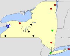 New York cities map  (JetPunk)