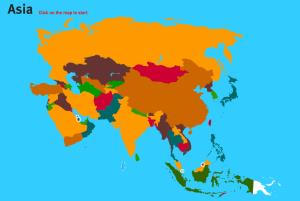 Countries of Asia. World Geography Games
