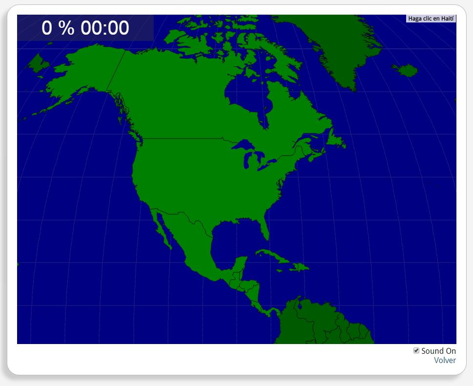 Américas do Norte e Central: Países. Seterra