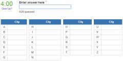 Biggest northernmost cities  (JetPunk)