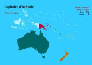 Capitales d'Océanie. Jeux de Géographie