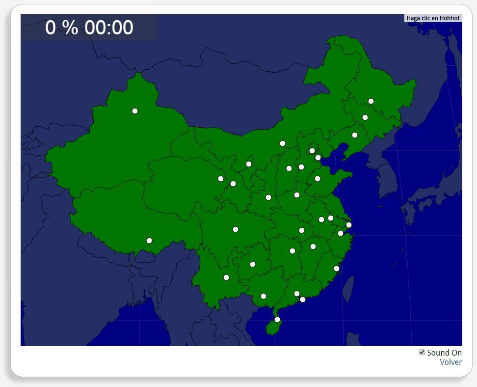 Chine : les capitales des provinces. Seterra