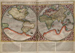 Planisferio de Rumold Mercator de 1587