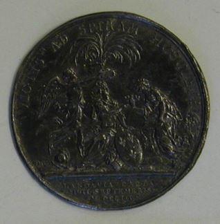 Prueba del reverso de la medalla conmemortaiva de la vicoría de Landao