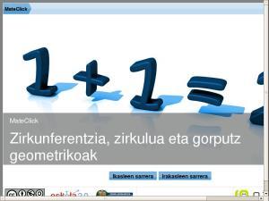 MateClick - Zirkunferentzia, zirkulua eta gorputz geometrikoak