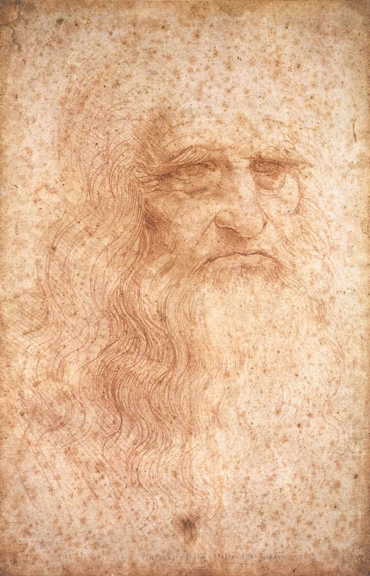 Posible autorretrato de Leonardo Da Vinci, 1513