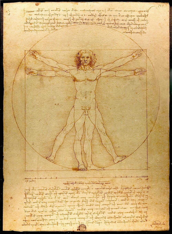 El hombre de Vitruvio, 1490