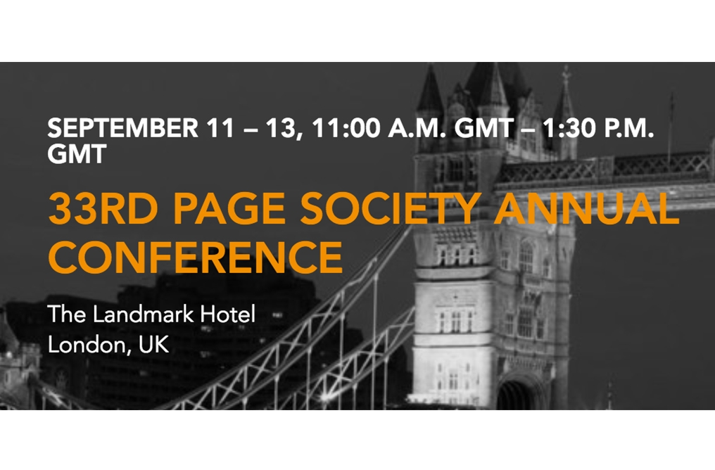 Día 1: Conferencia anual Arthur W. Page Society