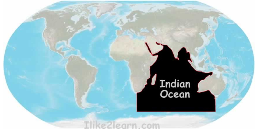 Seas and gulfs of the Indian Ocean. Ilike2learn