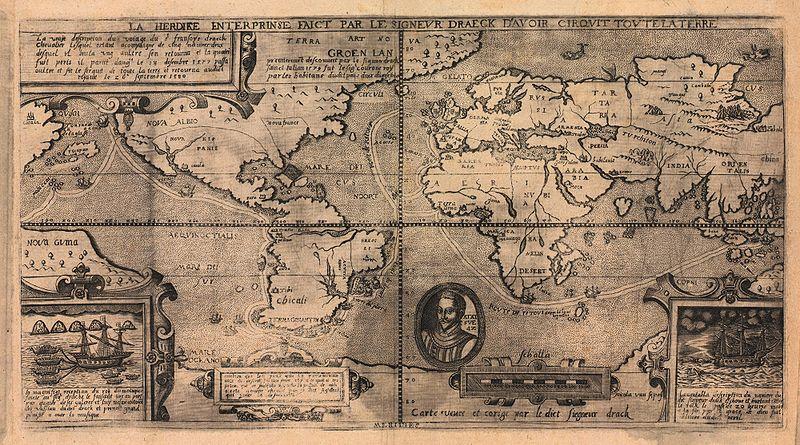 La vuelta al mundo del corsario Francis Drake entre 1577 y 1580