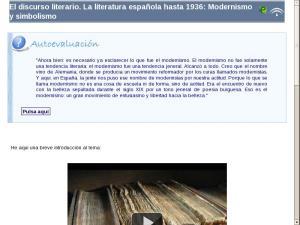 El discurso literario. La literatura española hasta 1936: Modernismo y simbolismo