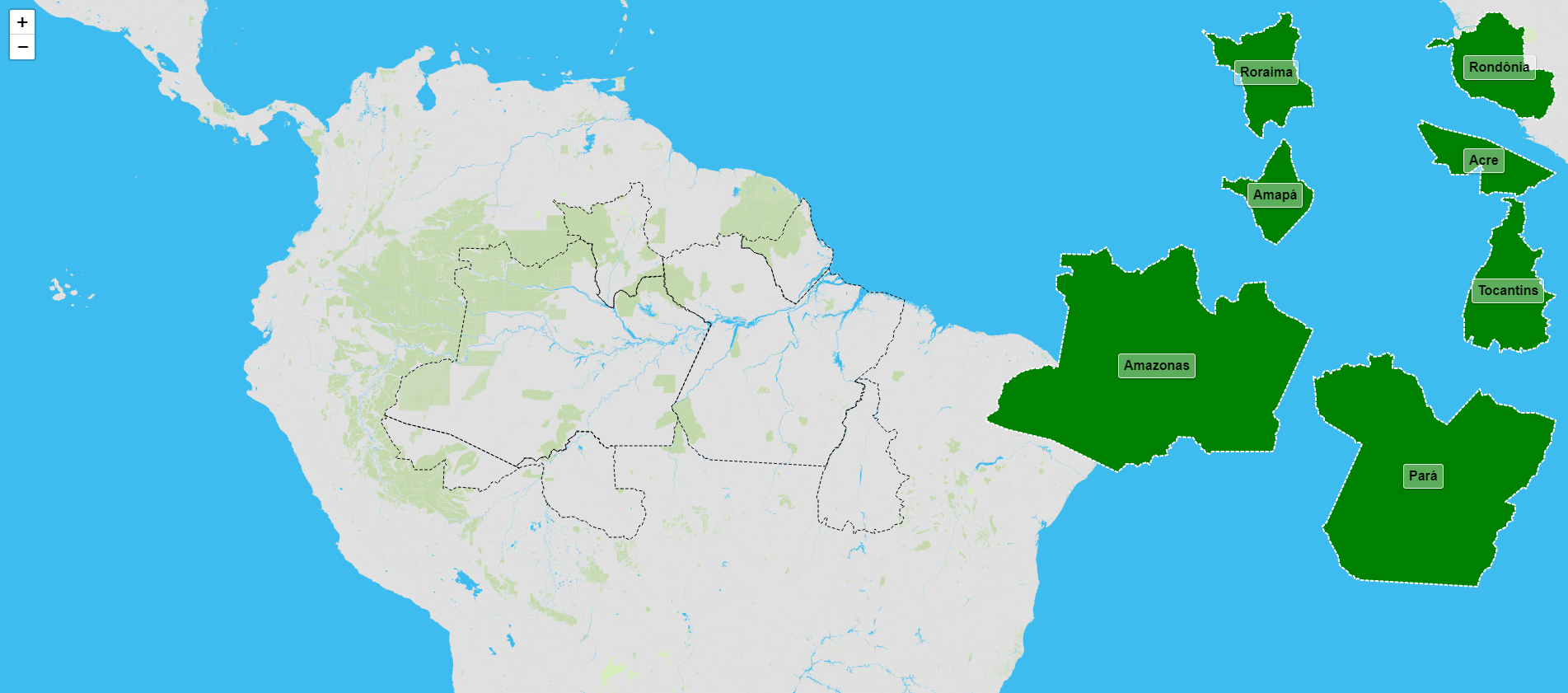 Estados de la región norte de Brasil