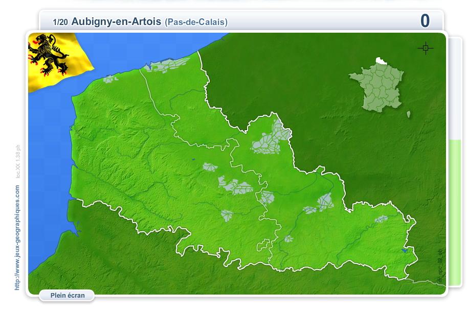 Villes du Nord-Pas-de-Calais. Jeux géographiques