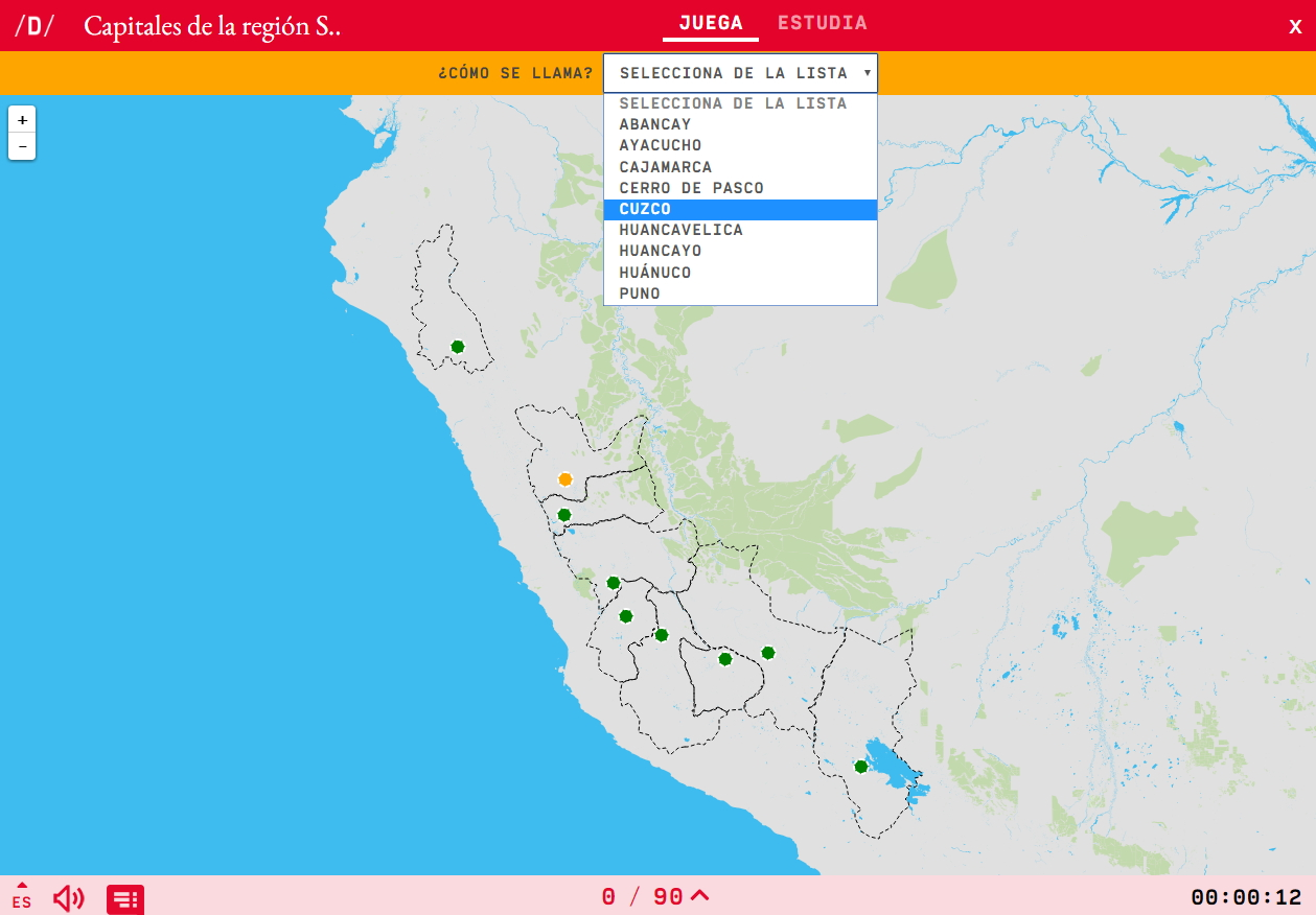 Capitales de la región Sierra de Perú