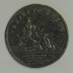 Prueba del reverso de la medalla conmemorativa de la victoria de Friedlingen