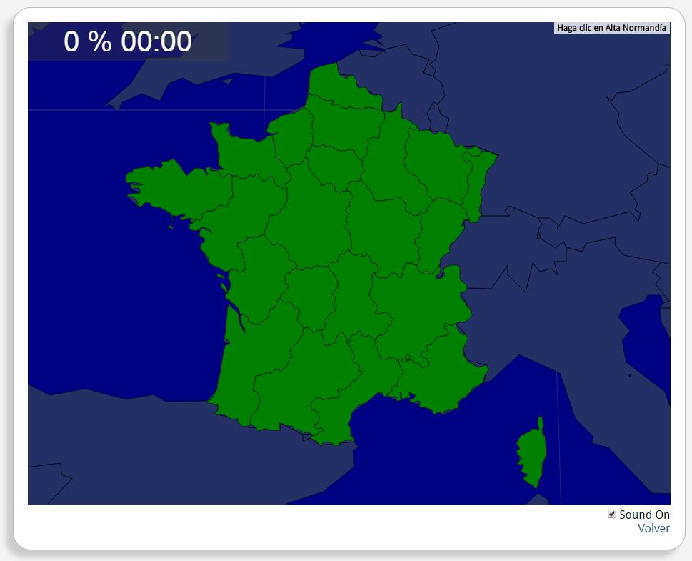 Francia: Regiones. Seterra