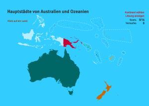 Hauptstädte von Ozeanien. Welt-Quiz Geographie