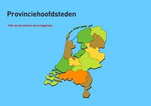 Provinciehoofdsteden van Nederland. Topo VMBO
