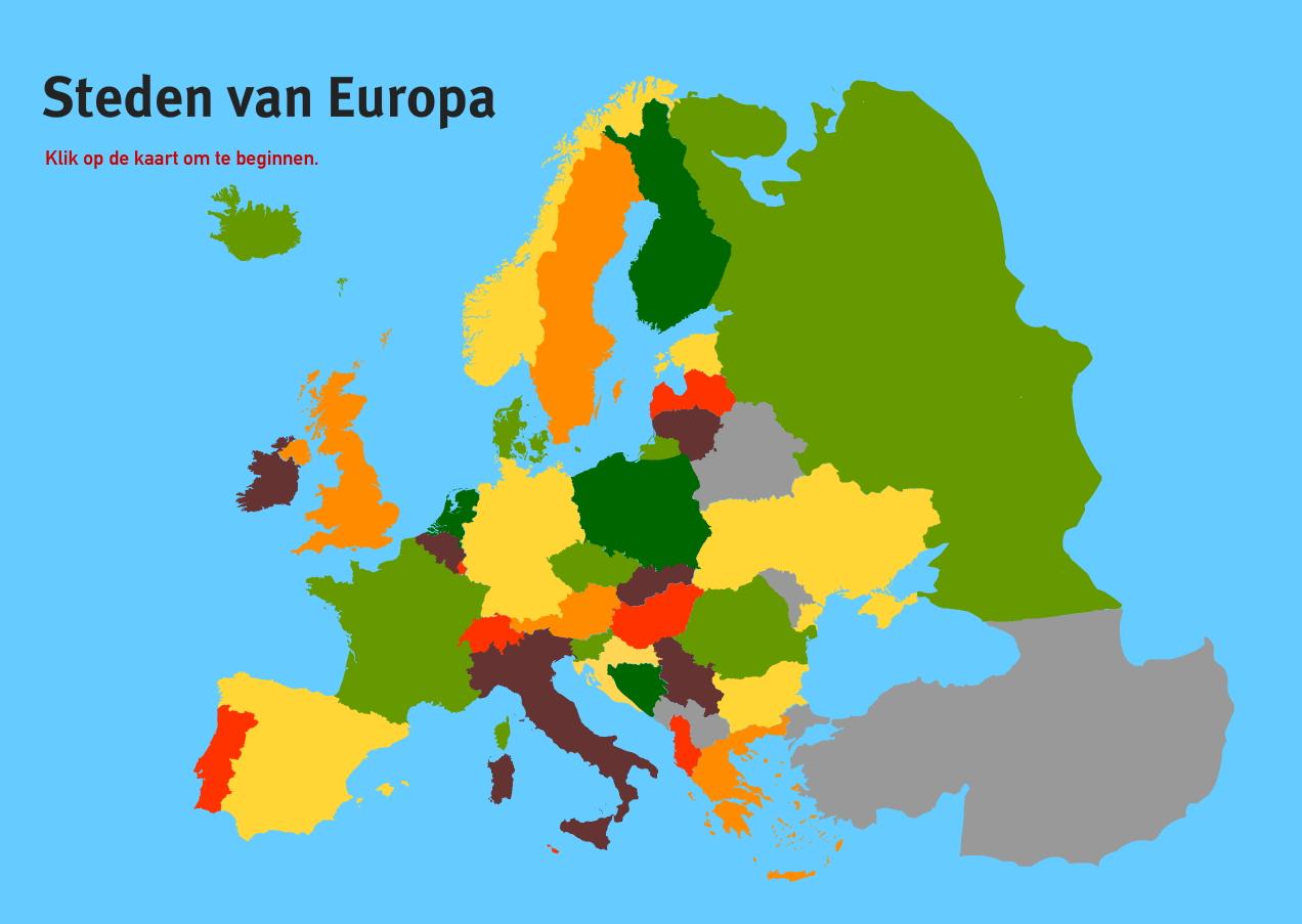 Steden van Europa. Topo VMBO