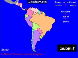 Countries of South and Central America. Ilike2learn