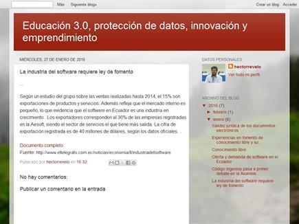 Educación 3.0, protección de datos, innovación y emprendimiento