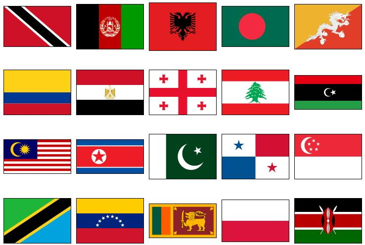 World country flags 3 (JetPunk)