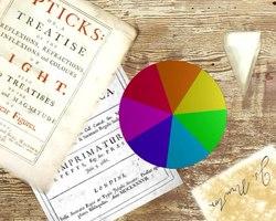 Disco de Newton. Al girarlo a gran velocidad los colores combinados forman el color blanco