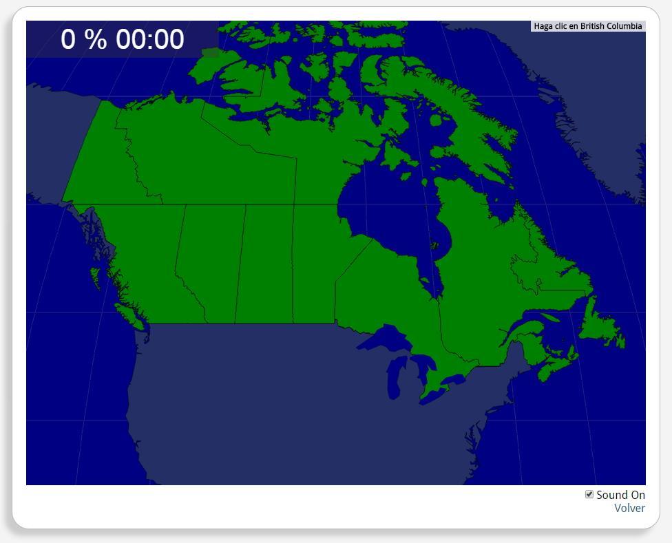 Canada: Provincies. Seterra