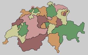 Cantons of Switzerland. Lizard Point