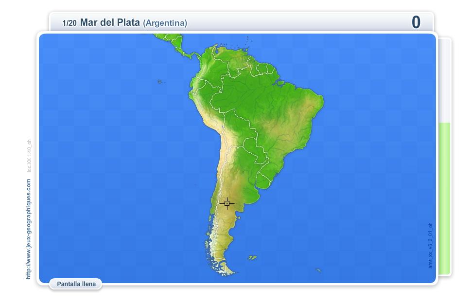 Mapa Interactivo De América Del Sur Ciudades De América Del Sur Juegos Geográficos Mapas Interactivos