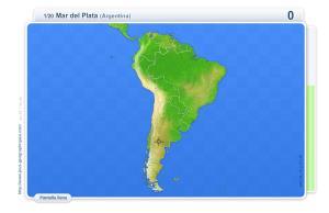 Ciudades de América del Sur. Juegos geográficos