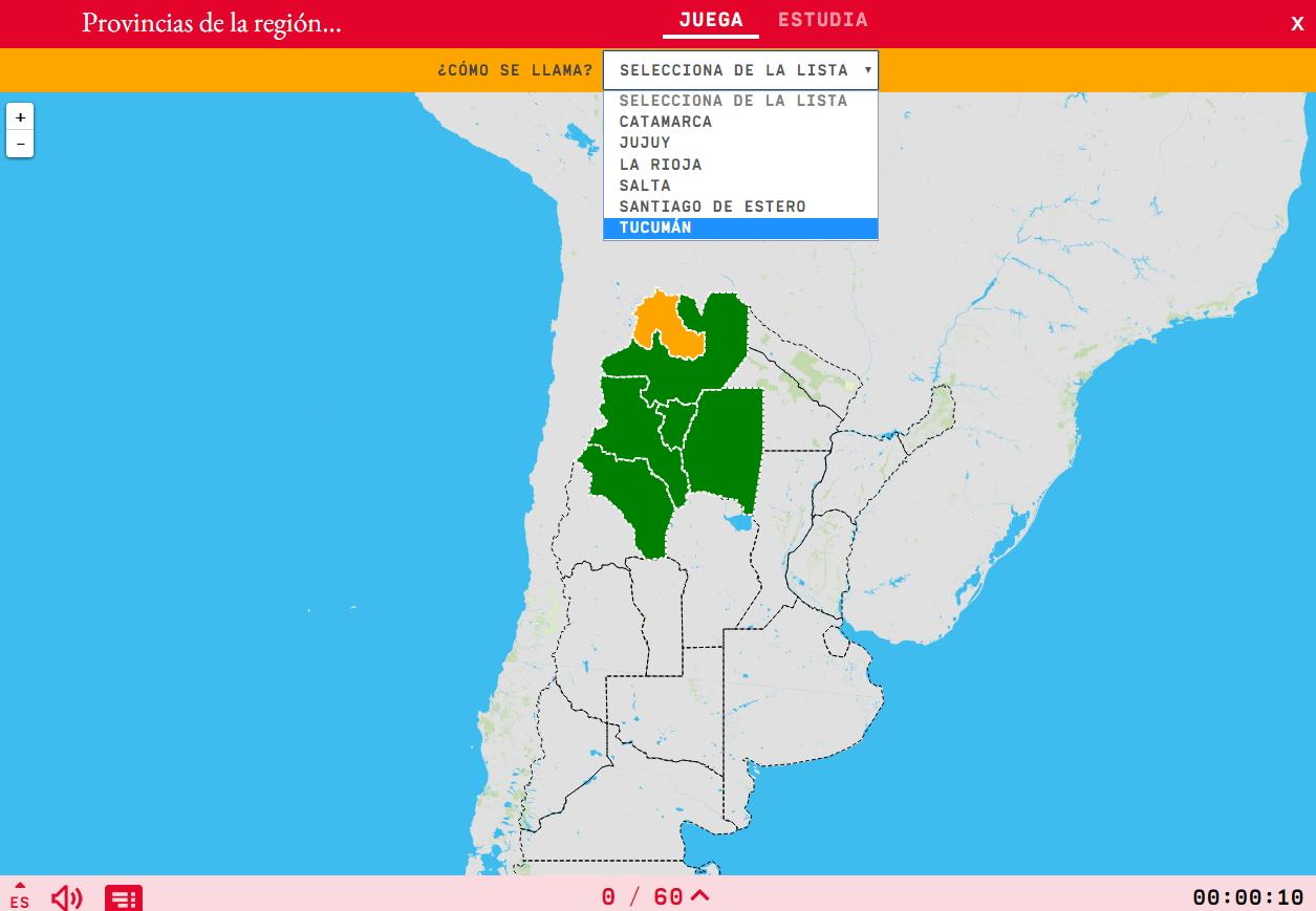 Provincias de la región noroeste de Argentina