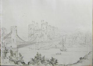 Vista del castillo y puente de Conwy (Gales)