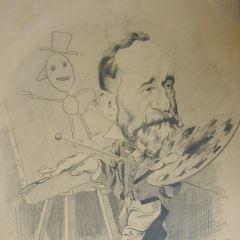 Caricatura de Pierre Puvis de Chavannes